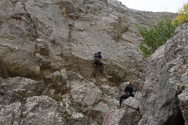 Скалолазание на скалах в Крыму